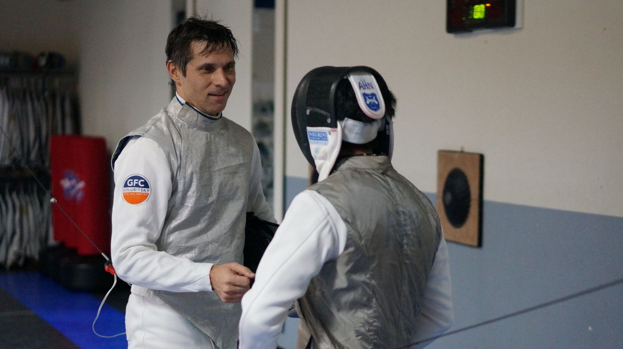 A rare opportunity to fence Coach Sergei during a GFC fencing camp. How did Aaron Ahn do against Coach?