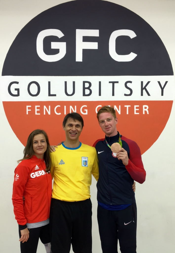 From left to right: Caroline Golubitsky, Sergei Golubitsky, and Race Imboden,